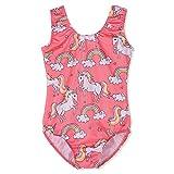 #6: Gymnastics Leotards for Girls Unicorn Pink Purple Sparkly Dancewear Activewear Quick Dry