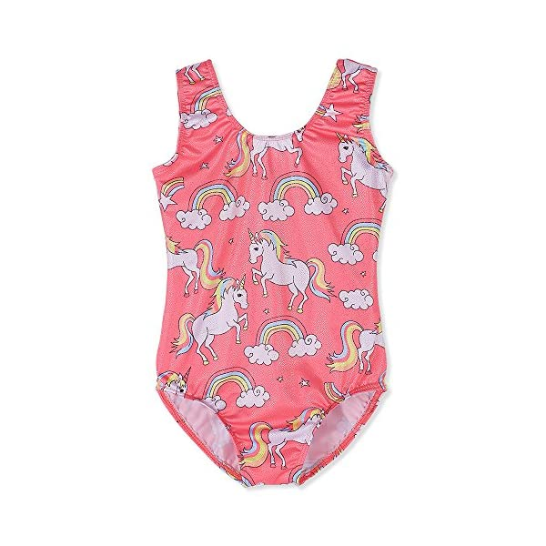 Gymnastics Leotards for Girls Unicorn Pink Purple Sparkly Dancewear Activewear Quick Dry 2