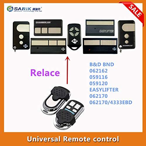 Calvas 3PCS/lots BND B&D garage doors,openers Roller doors replacement remote control transmitter