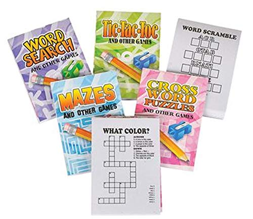 36 pc- Mini Fun and Games Mini Activity Coloring Books - Bulk Class/Group Pack - Toys and Novelties