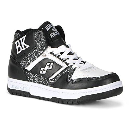British Knights Kings Sl Men's Chukka Sneaker Black/White, 9.5