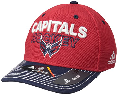 NHL Washington Capitals Adult Men Pro Authentic Locker Room Structured Flex, Small/Medium, Red
