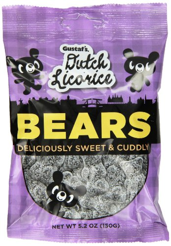 (Gustaf's Dutch Licorice, Sugared Licorice Bears, 5.2 Ounce (Pack of 12))