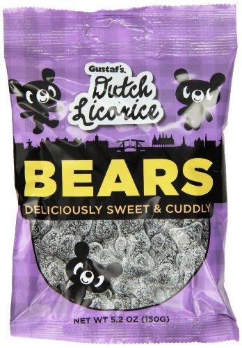 Gustaf's Dutch Licorice, Sugared Licorice Bears, 5.2 Ounce (Pack of (Dutch Bear)