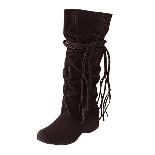 Botines para Mujer K-youth® Zapatos Mujer Otoño invierno Botas de plataforma Zapatos de