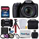 "Canon PowerShot SX530 HS Digital Camera + 32GB SDHC Memory Card Premium + Camera Case + 67mm 3 Piece Filter Kit + 12"" Flexible Tripod + Vivitar Card Hard Case + Photo4Less Cloth + Cleaning Kit"