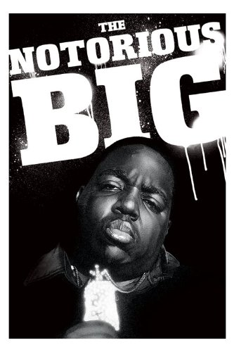 Notorious BIG Biggie Smalls Paint Pose B&W Black and White Large Music Art Poster 61 by 91.5cm