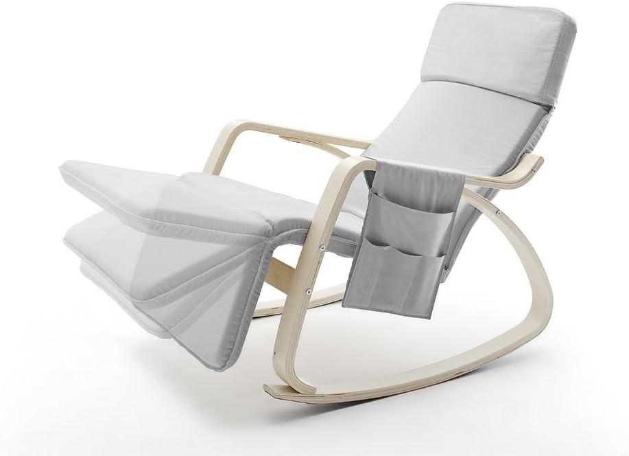 Schaukelstuhl Stuhl 66 x 90 x 104 cm Robas Lund Relaxstuhl cr/ème 64085CN2 Gent