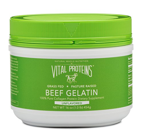 Vital Proteins Collagen Protein, Pasture-Raised, Grass-Fed, Non-GMO, Beef Gelatin (16 oz)
