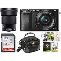 Sony Alpha a6000 Mirrorless Camera w/ 16-50mm, 30mm f/1.4 Lens Bundle