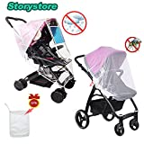 Stroller Waterproof Rain Cover +Baby Mosquito Net Universal with Ventilation Design for Travel Outdoor Protect Baby Friendly-Adjustable Use and Easy to Carry