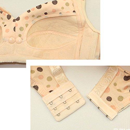 Zhhlaixing Pregnant Women Maternidad Nursing Bra Front Open Bra Breast Feeding Underwear Hot Pink