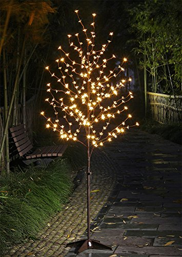 Lightshare 6 Feet Cherry Blossom Lighted Tree, 208 LED lights, Warm White, For Christmas Tree, Party, Wedding, and More Festival Deoration
