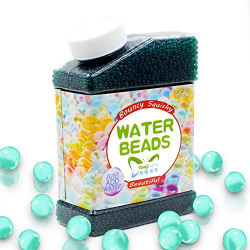 SailFish Water Beads,9 oz Pack (40000 Pcs) Gel Water Beads for Vases Filler,Plants,Wedding,Party and Home Decorations,Kids Tactile Sensory Toys Magic Beads Growing Balls,Dark Green
