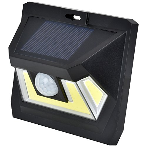 Cheap SOLAR MOTION SENSOR COB LED LIGHT By Mighty Power, Ultra Bright 350 Lumens, Perfect For Illuminating Patios, Outdoor Walkways and Pathways, Entries And Exits, Dark Alleys, RVs, Garages, Black (1 Pack)
