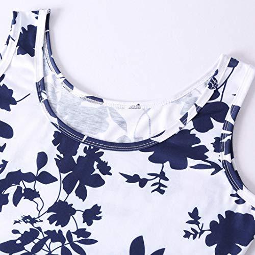 ABsolute Vestido Vestido Chaleco Mujer Playa, Verano sin Mangas de la impresión de la Playa una línea Vestido Ocasional Floral: Amazon.es: Ropa y accesorios