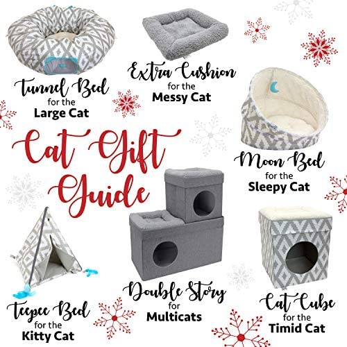 Kitty City Large Cat Tunnel Bed, Cat Bed, Pop Up Bed, Cat Toys, Christmas Tree 5