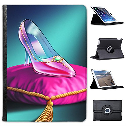 Cinderella's Glass Slipper at Midnight Ball for Apple iPad Air 2 [2014 Version] Faux Leather Folio Presenter Case Cover Bag with Stand Capability