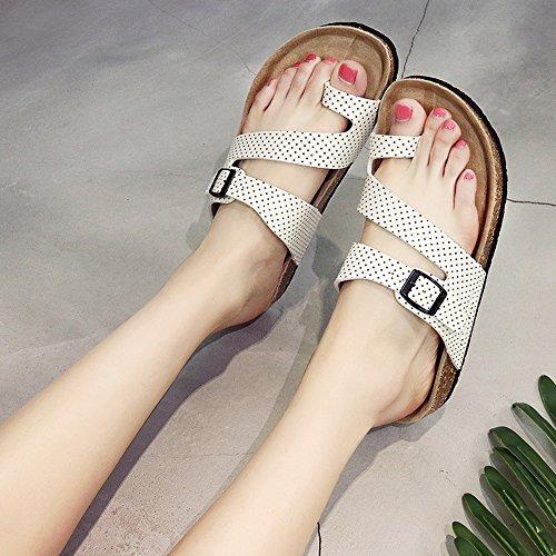 Chanclas MEIDUO sandalias Zapatillas Femeninas Del Corcho Zapatillas Planas Del Verano Zapatillas Planas Zapatos De La Playa De Los Pares 4 Colores cómodo 1003