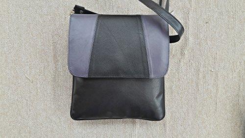 womens-teens-girls-genuine-leather-black-shoulder-messenger-crossbody-bag