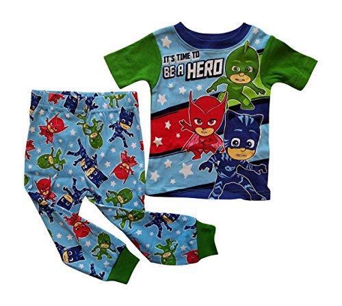 PJ Masks Pajama Sleep Wear Set for Toddler Boys