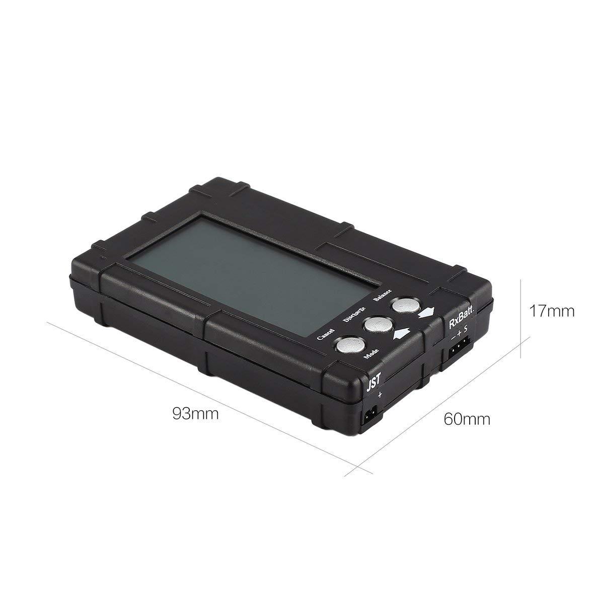 Heaviesk 3in1 Batterie /équilibreur LiPo Life 2-6s /équilibrant d/échargeur voltm/ètre testeur /écran LCD enregistrer JST connecteur pour mod/èle RC