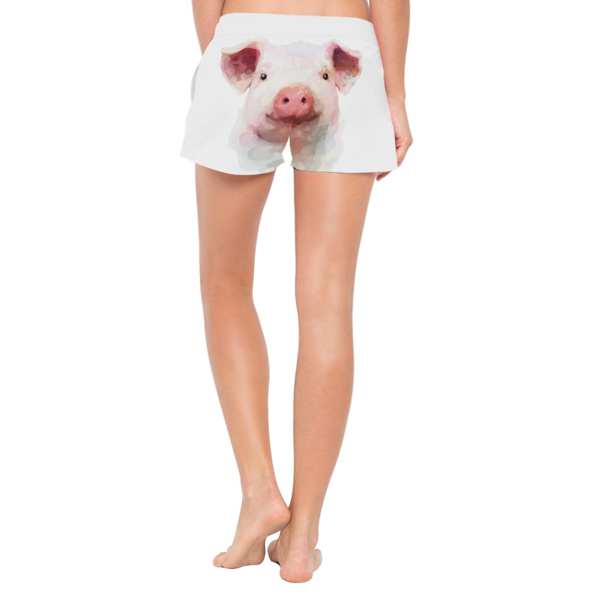 Pig Painting Women/'s Beach Pants Board Short with Built-in Liner
