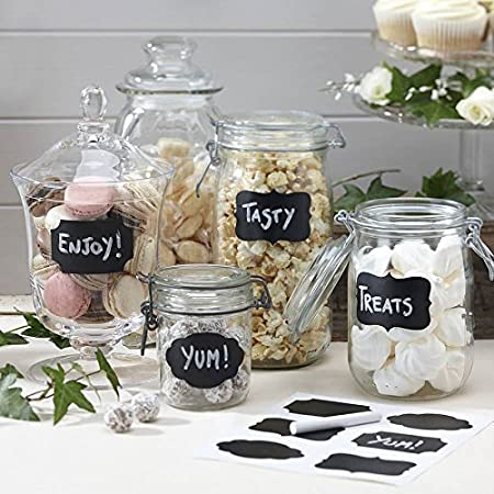 Pantries Liangxiang 36 pcs Chalkboard Labels Premium Waterproof Peel and Stick for Jars Craft Rooms