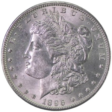 (1896 O Morgan Silver Dollar Uncirculated Semi-Key Date Rare MS/BU US Coin)