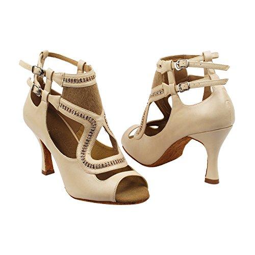 Latin Wedding Salsa 7018 Pump SERA7036 Swing Shoes Shoes High Tango Party Women Gold Pigeon Evening High Party Tango Swing Comfort Latin Medium Ballroom Dress Top Salsa Dance Heel Beige Shoes wBPgqS