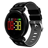 Fitness Tracker, Tracker Watch Waterproof IP68 with Pedometer, Heart Rate Monitor, Sleep Monitor and Call Reminder Functions for Android & iOS Smart Watch, 4 Color, Smart Wristbands—Good Gift (Gray)