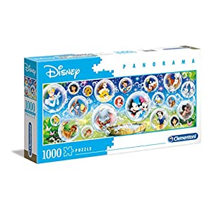 Clementoni 39515 Disney Panorama Collection Disney Classic 1000 Pezzi Made In Italy Puzzle Adulto