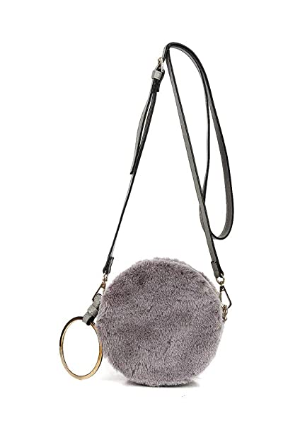 b8564e800a Angkorly - Handbags   Shoulder Bags Pouch Clutches Cross-body Mini crossbody  bag faux fur