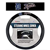 MLB Detroit Tigers Poly-Suede Steering Wheel Cover Auto Accessories 15 x 15in