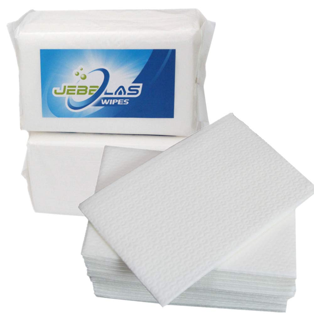 Jebblas Disposable Hand Napkins Guest Towels Cloth Like Square Hand Wipes Big Size Bathroom Wipes Elegant and Thick for Party, Wedding, Gathering, White, 2 Pack by Jebblas