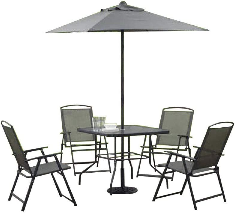 Mainstays Albany Lane 6-Piece Folding Seating Set (Gray)