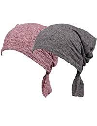 Womens Solid Color Ethnic Cloth Print Turban Headwear Chemo Cancer Head Scarf Hat Cap
