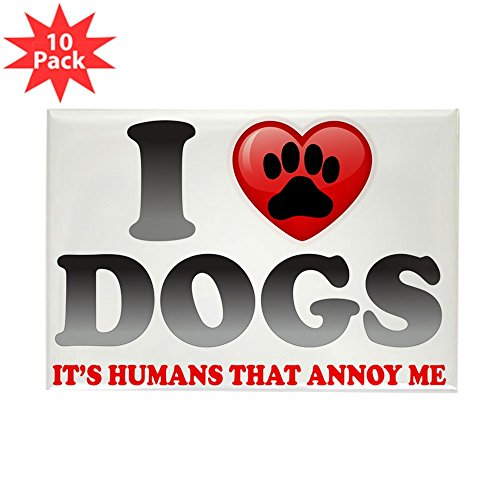 Rectangle Magnet (10 Pack) Love Dogs It's Humans That Annoy Me