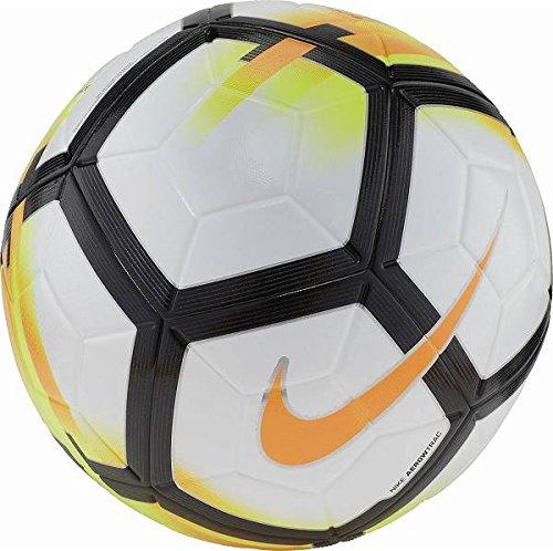 Nike Ordem V Official Match Soccer Ball (White, Laser Orange, Black) Size 5 by NIKE