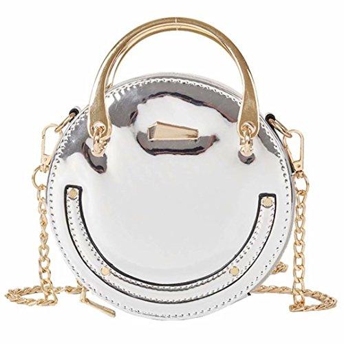 blanc petit big dudubaobei rivet chaîne épaule E fille femelle sac pearl green Petit sac J sac main sac rond petit à IqqRpwvF