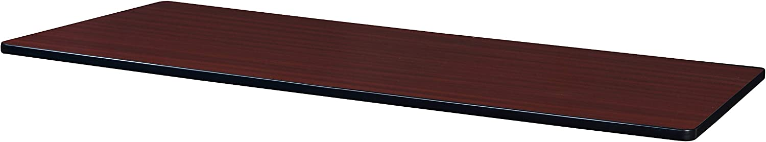 Regency Rectangular Standard Table Top 72 x 30 Mahogany/Mocha Walnut