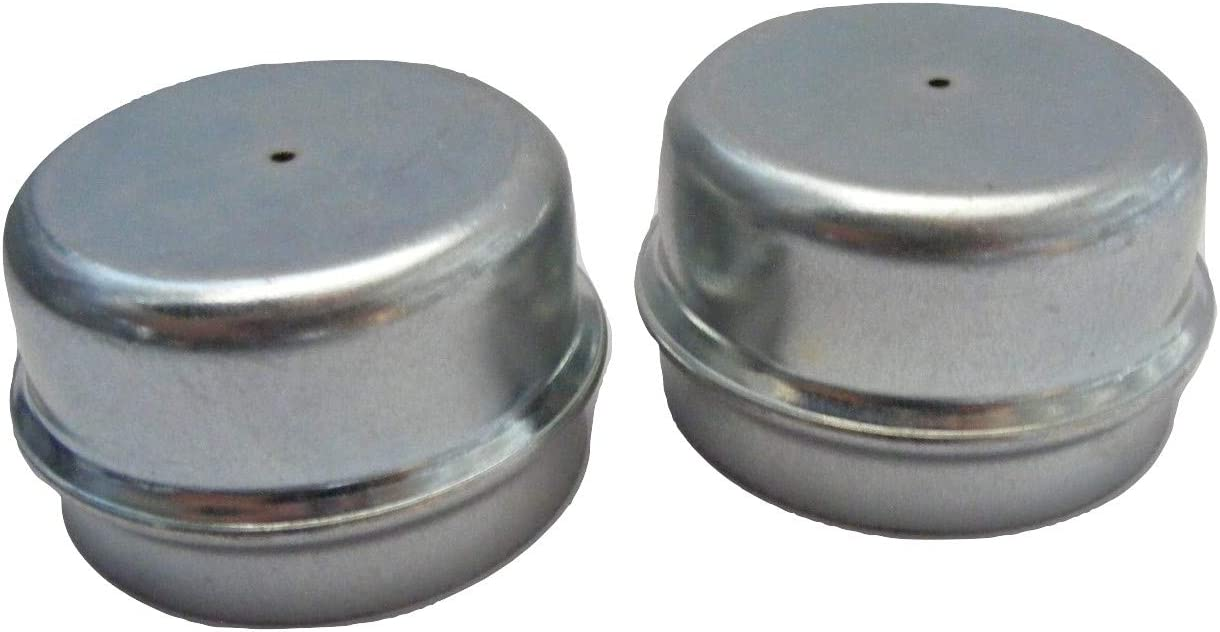 2 x 50mm Metal Grease Dust Hub Caps for Trailer Wheels fits Indespension Troon/&Co