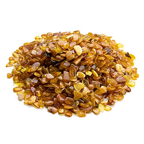 Baltic Amber Small Polished Stones by Amber Culture | Mix Color, Natural, Genuine for Crafting, Jewelry Making and Paint Relief (No Holes) (200 g / 7 oz)