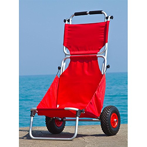 Rage Powersports BFC-RED Red Folding Beach Fishing Chair/Cart by Rage Powersports (Image #2)