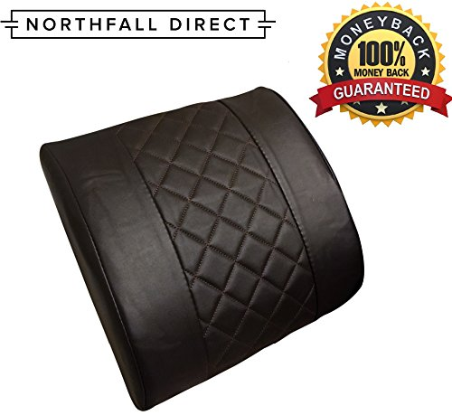 Premium Pu Leather Lumbar Support By Northfall Direct