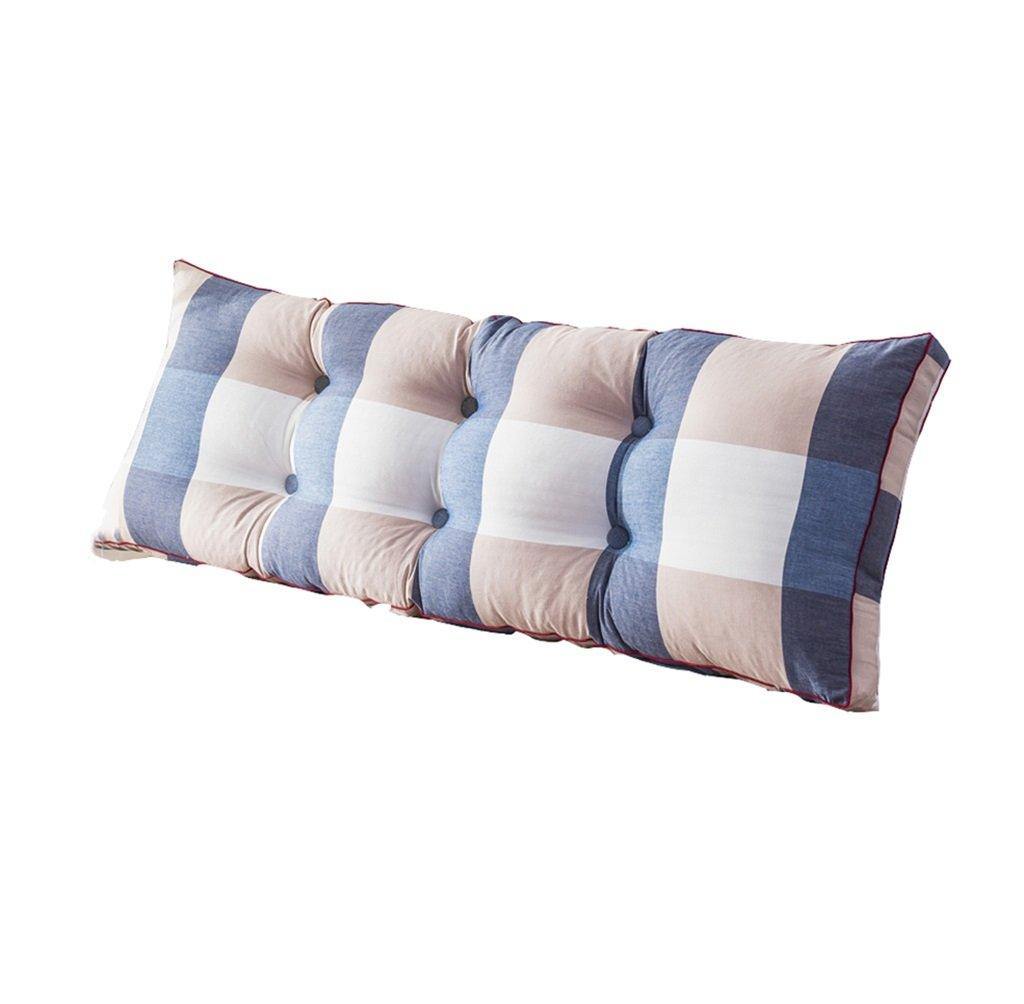 ファッションベッドサイド厚いクッション三角枕と長い背もたれ取り外し可能で洗濯可能なダブルプロテクションウエストクッション枕を読む (色 : Blue, サイズ さいず : 150 * 50 * 20cm) B07DK74HP6 150*50*20cm|Blue Blue 150*50*20cm