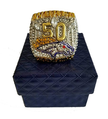 Broncos Display Cases (YIYICOOL Den' 2015 Broncos Ring With Display Case - Size 11)