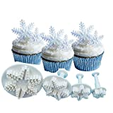 AmaranTeen - Snowflake Biscuit Cake Mold Plunger Cutter ABS Baking Cookie