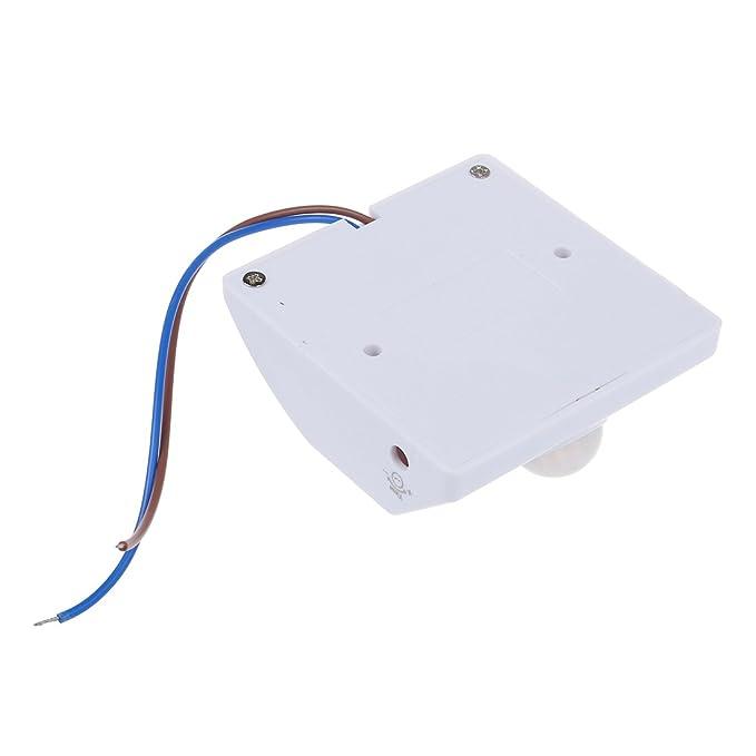 SODIAL(R) Base Portalamparas con Sensor Movimiento Infrarrojos Blanco: Amazon.es: Iluminación