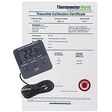 Calibrated termómetro digital para frigorífico y congelador con certificado de calibración rastreable de 2 puntos